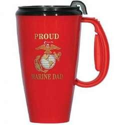 Proud Marine Dad Travel Mug