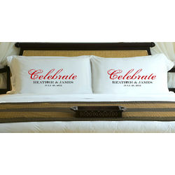 Personalized Celebration Couples Pillow Cases