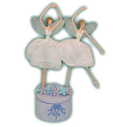 Twin Fairy Ballerinas Music Box