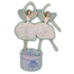 Twin Fairy Ballerinas Music Box