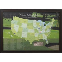 Golfer's Personalized Travel Map