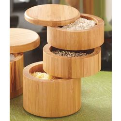 Three Tier Bamboo Salt Box
