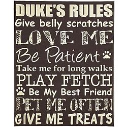Personalized Pet Rules Canvas