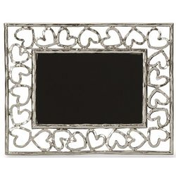Nickelplate Heart Picture Frame