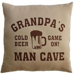 Personalized Man Cave Beer Pillow