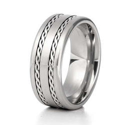 Men's Double Braided Stainless Steel Ring