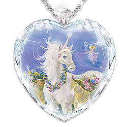 Believe In Your Dreams Personalized Crystal Unicorn Pendant