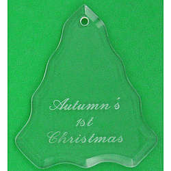 Personalized Glass Tree Christmas Ornament