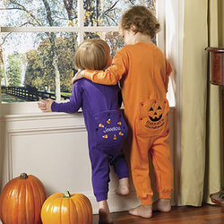 Personalized Halloween Toddler Long Johns