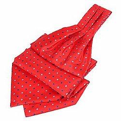 Polkadot Pattern Pure Silk Ascot