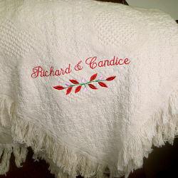Wedding Keepsake Personalized Cotton Afghan