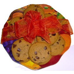 Pumpkin Platter with 1/2 Dozen Cookies