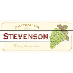 Personalized Chateau White Wine Plaque