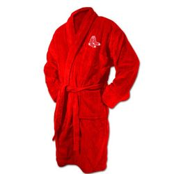 Boston Red Sox Logo Bathrobe in Red