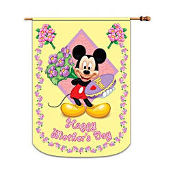 Mickey and Friends Happy Mother's Day Decorative Flag