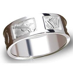 Men's Sterling Silver Irish Music Ring