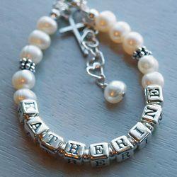 Precious Little Personalized Baptism Bracelet