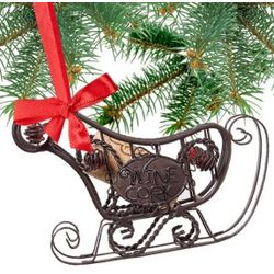 Santa's Sleigh Cork Cage Ornament