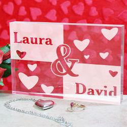Engraved Couples Keepsake Block