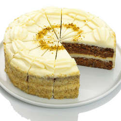 9 Inch Carrot Cake with Cream Cheese Frosting