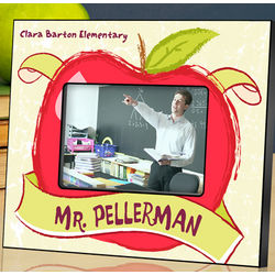 Personalized Big Apple Teacher Picture Frame