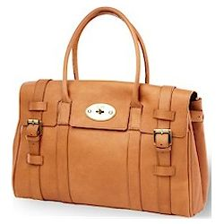 Leather Turnlock Handbag