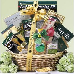 Par For the Course Birthday Golf Gift Basket