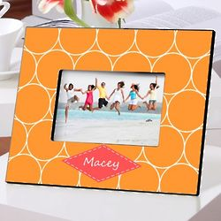 Personalized Orange Melon Picture Frame