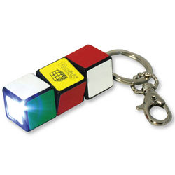 Rubik's Cube LED Flashlight Keychain