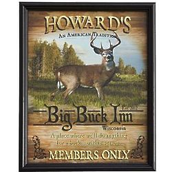 Personalized Framed Big Buck Inn Canvas Print