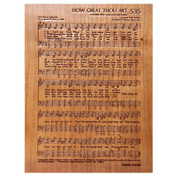 How Great Thou Art Etched Wood Plaque