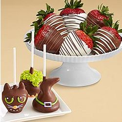 Halloween Cake Pops and Chocolate-Dipped Strawberries