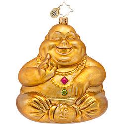 Hand-Blown Glass Nirvana Buddha Ornament