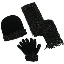 Women's Loopy Chenille Winter Hat, Gloves, and Scarf
