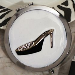 Shoe Design Stylish Compact Mirror Favor
