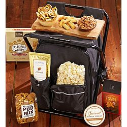 Cooler Backpack and Camping Stool Snack Set