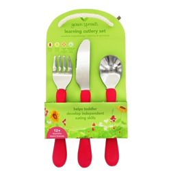 Kid's Learning Cutlery in Pink
