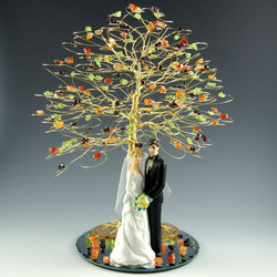 Wedding Cake Topper Tree with Figurine