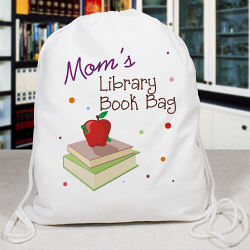 Personalized Library Book Bag