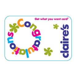 Claires Congratulations Gift Card
