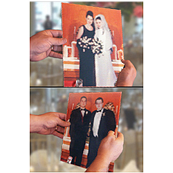 Bride to Groom Magically Changing Wedding Photo 8x10