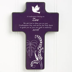 A Confirmation Blessing Personalized Wall Cross