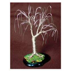 Wire Bonsai Mini Tree Sculpture