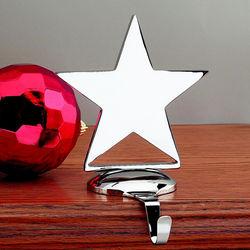 Star Engraved Christmas Stocking Hanger
