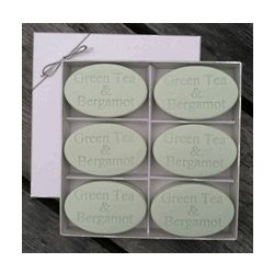 Personalized Green Tea and Bergamot Soap Gift Box