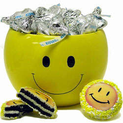 Smiles and Kisses Chocolate and Cookie Jar
