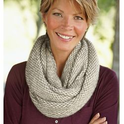 Effortless Tweed Infinity Scarf
