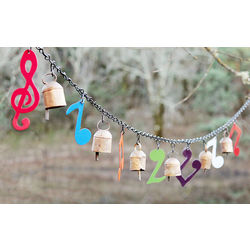 Music Note and Bells Banner