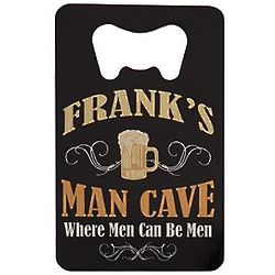 Personalized Man Cave Wallet Bottle Opener