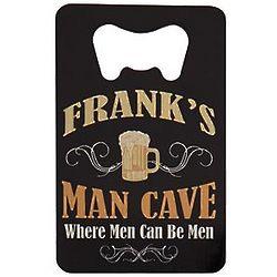 Personalized Man Cave Wallet Bottle Opener
